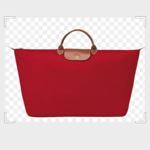 NWT Longchamp XL Travel Tote,  Red